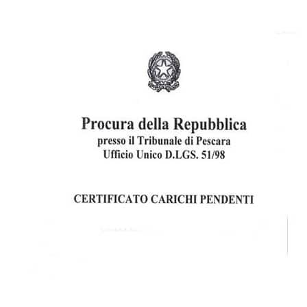 certificato carichi dipendenti