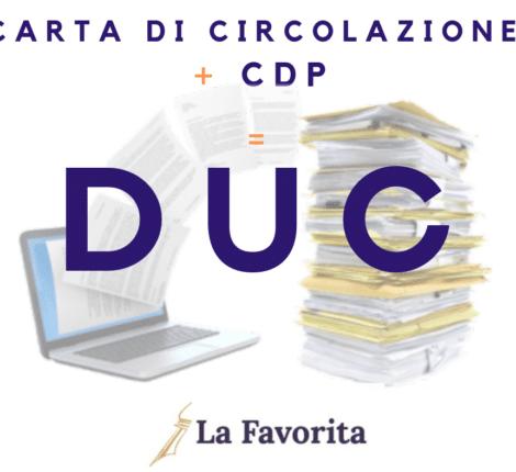 DUC = carta di circolazione + certificato di proprietà