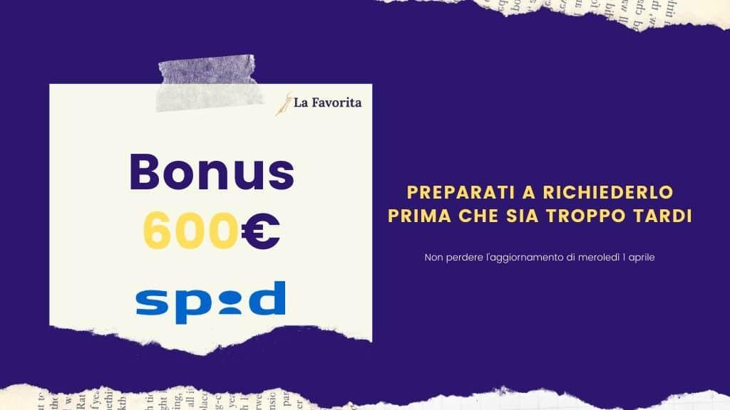 bonus 600 euro spid